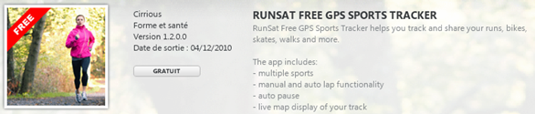 runsat pour windows phone